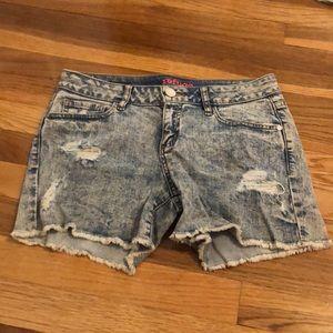 Charlotte Russe Acid wash shorts
